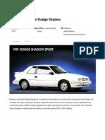 Tras la historia del Dodge Shadow _ Excelencias del Motor