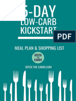 5-day Low-Carb Meal Plan & Shopping List