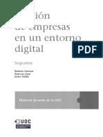 Gestión de empresas en un entorno digital; Soportes