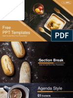 Freshly Baked Bread PowerPoint Templates