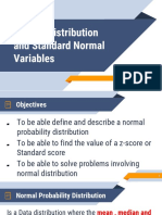 Normal distribution and standard normal variable