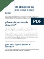 Pensión de alimentos en Chile