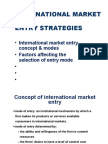 International Market Entry