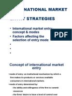 International Market Entry