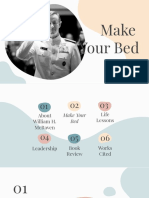 make your bed  william h