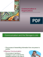 Communication in Org