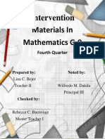 Intervention Materials In Mathematics G