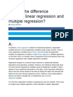 What is the difference between linear regression and multiple regression