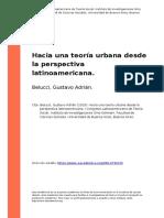 Belucci, Gustavo Adrian (2015). Hacia una teoria urbana desde la perspectiva latinoamericana