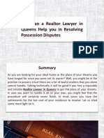 How Can a Realtor Lawyer in Queens Help You in Resolving Possession Disputes