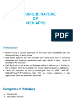 2.Unique Nature of Web Apps