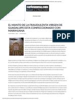 EL MANTO DE LA FRAUDULENTA VIRGEN DE GUADALUPE