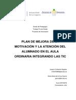 PLAN DE MEJORA DE LA ATENCION DEL ALUMNADO EN EL AULA ORDINARIA INTEGRANDO LAS TIC