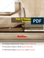 Lecture -9 Unsupervised Learning (K-means, Association analysis and Frequuent items).ppt