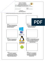 Activity Sheet - Operating Systems