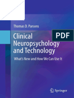Thomas D. Parsons (auth.) - Clinical Neuropsychology and Technology_ What's New and How We Can Use It (2016, Springer International Publishing)