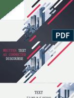 written text as connected discourse