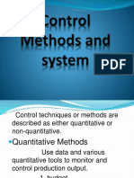 Control Methods and system