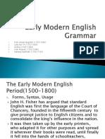 Early Modern English Grammar