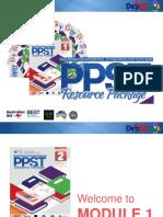 PPST Resource Package Module 1 Walkthrough