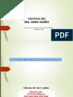 COMPROBACION DE LA VALVULA IAC ING. DENIS UGEÑO