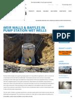 Weir Walls & Baffles in Pump Station Wet Wells -
