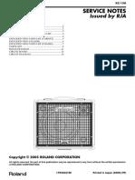 Roland KC-150 Keyboard Amp Service Manual
