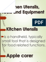 Kitchen Utensils, Tools and Equipment.pptx