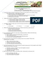 TEST PAPER FOR TLE G9 DRESSMAKING NC II