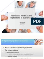 Worksite Health and its implications in public health