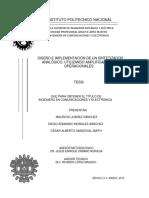 Diseño e Implementacion De Un Sintetizador Analógico
