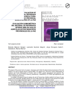 CHEMOMETRIC EVALUATION OF THE INTERNAL REFERENCE MATERIAL (IRM) OF AGRICULTURAL SOILS IN TWO PROVINCIAL MUNICIPALITIES OF LA PAZ