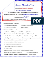 Pedagogy MCQS for Tests Compose by Ifza Mughal.pdf