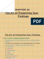 Ch 24 the Art of Presenting Your Findings F2019