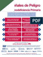 10 Señales de Peligrode la Inmunodeficiencia Primaria