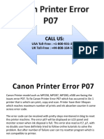 Canon Printer Error P07
