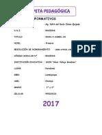 CARPETA PEDAGÓGICA - AULA AIP