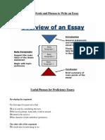 Palabras y frases útiles para escribir un ensayo  en inglés