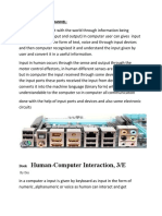 INPUT AND OUTPUT CHANNEL