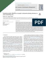 Examinar las diferencias de género en las decisiones de intercambio de información de las personas sobre sitios de redes sociales