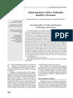 Salud mental en Chile y Finlandia