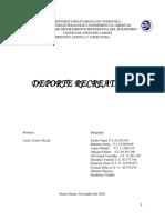 Trabajo de Deporte y Recreacion-1 5TO  SEMESTRE