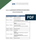 Agenda - Taller SCI