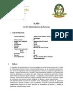 SILABO DE ADMINISTRACIÓN DE PERSONAL