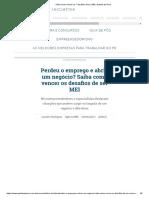 Saiba como vencer os 7 desafios de ser MEI _ Gazeta do Povo