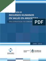 La Gestión de Recursos Humanos en Salud en Argentina