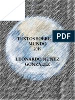 Textos sobre el Mundo. 2019