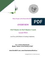 004 NLP Master - NLP Part 1 & Part 2 - Objectives 2019