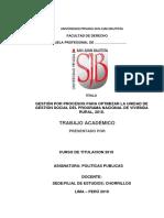 GESTION POR PROCESOS PARA OPTIMIZAR LA UNIDAD DE GESTION SOCIAL DEL PROGRAMA NACIONAL DE VIVIENDA RURAL 2,018 DE.docx