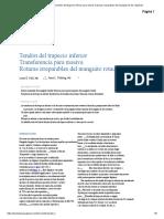 Transferencia del tendón del trapecio inferior para roturas masivas irreparables del manguito de los rotadores